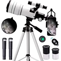 ToyerBee Telescope for Kids &Adults &Beginners,70mm Aperture 300mm Astronomical Refractor Telescope(15X-150X),Portable…