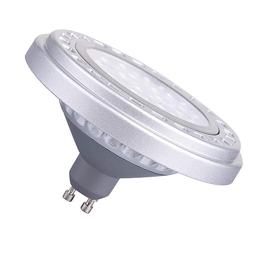 Regulable Gu10 Casquillo Ar111 15 W, 30 ° áNgulo De Haz Blanco CáLido 3000 K