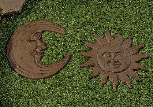 Giftcraft Celestial Moon and Sun Iron Stepping Stone ()