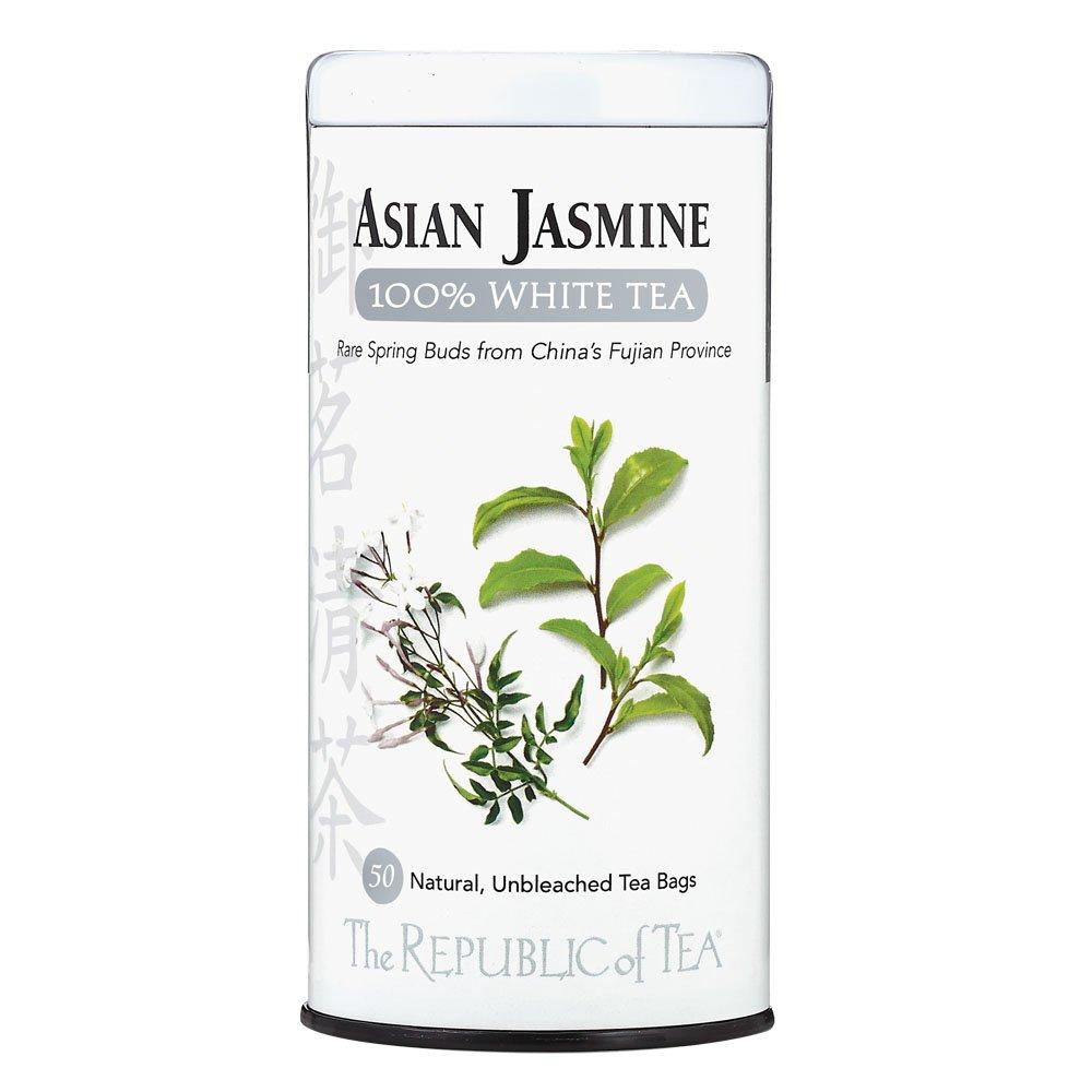 The Republic of Tea, Asian Jasmine White Tea, 50-Count