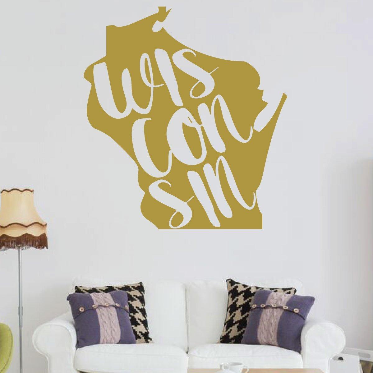 Amazon.com: Wisconsin Wall Decor - States Vinyl Silhouette Art for ...