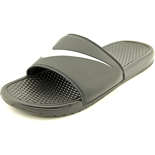 5db91236c Nike Men s Benassi Swoosh Black True White Flip Flops Thong Sandals-7 UK 41  Euro (312618-011)  Buy Online at Low Prices in India - Amazon.in