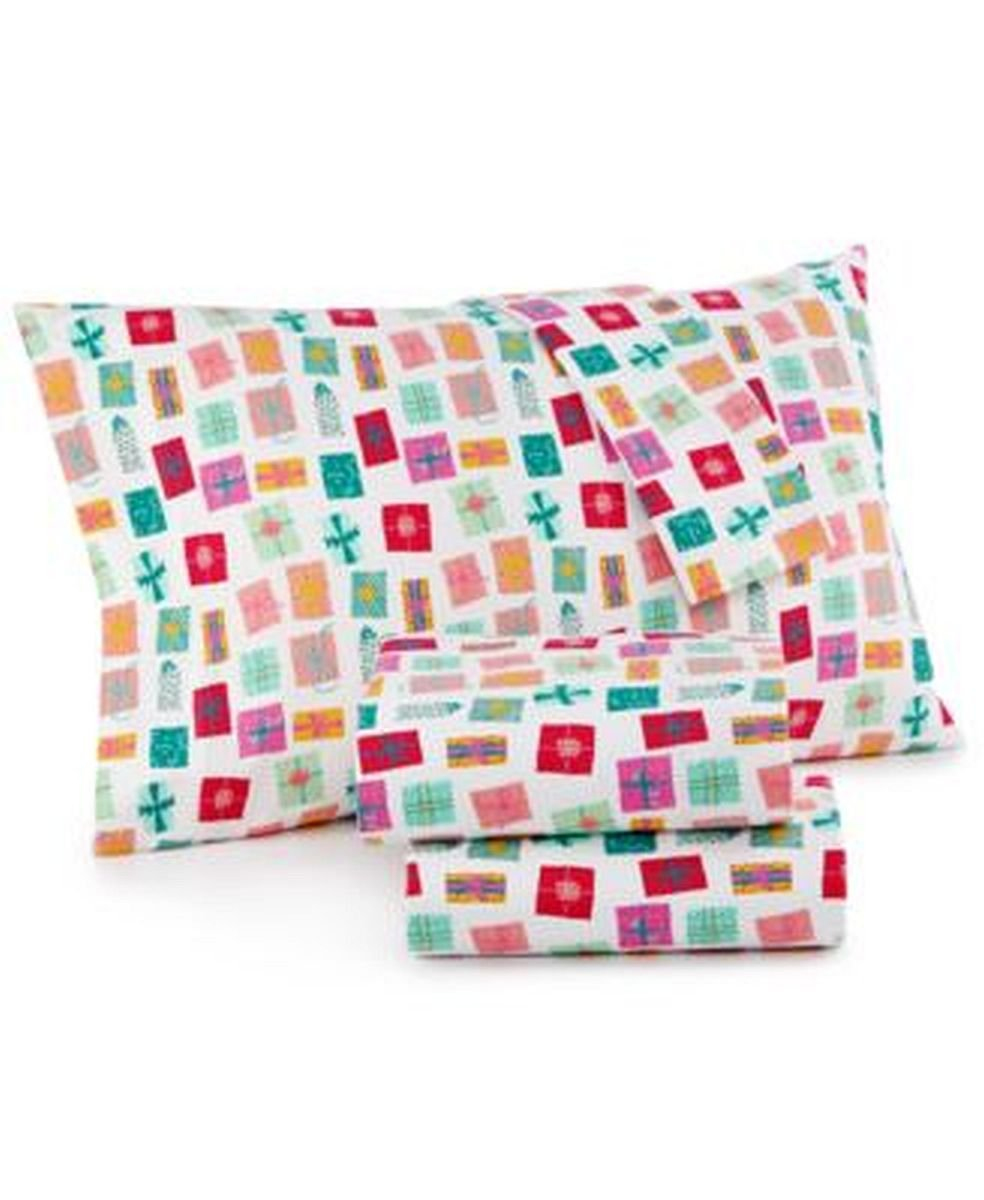 Sheet Pillowcase Sets Home Kitchen Martha Stewart Whim Collection 100 Cotton Flannel Sheet Set Queen Holiday Gifts