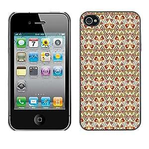 ZECASE Funda Carcasa Tapa Case Cover Para Apple iPhone 4 / 4S No.0003633