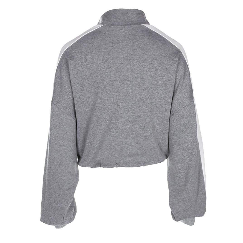 Spbamboo Women Long Sleeve Pullover Sweatshirt Blouse Zipper Crop Tops Shirt by Spbamboo (Image #3)
