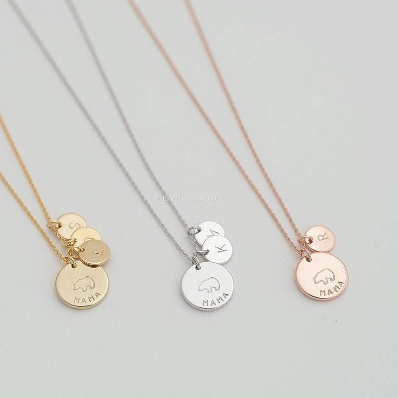 Personalized Custom Monogram Hand Stamped Mama Charm Birthstone Jewelry N2595 Stainless Steel Mama Charm Bracelet