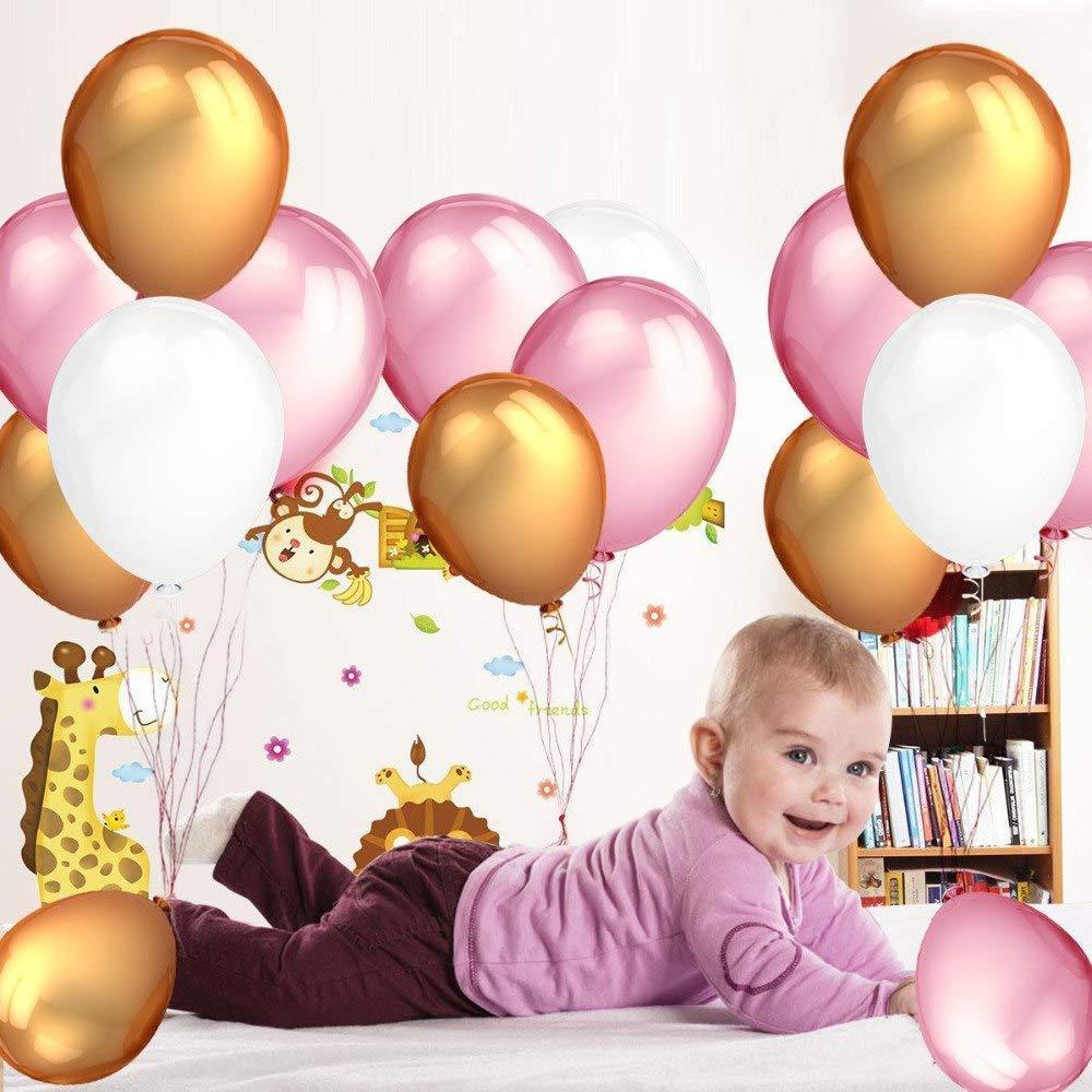 Geburtstagsdeko Rosa Weiss Und Gold Fur Madchen Und Jungen