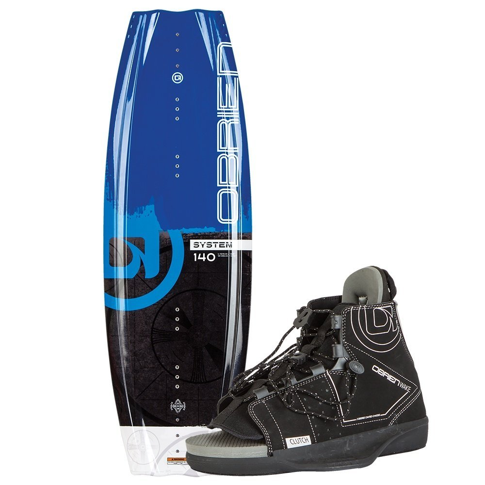 O'Brien System Wakeboard with Clutch 8-11 Bindings, 140cm by O'Brien