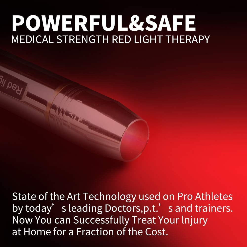 DGYAO 660nm Led Red Light Therapy Devices Natural Pain Relief for Joint Muscle – Improving Skin Texture Facilitating Healing and Treatment of Injuries
