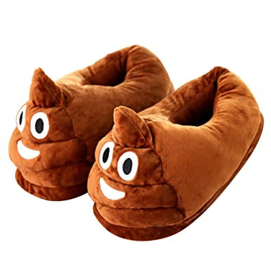 c1a9a3f0d10c Molilands Poo Poo Emoji Style Slippers Indoor for Ladies Boys Girls Warm  Soft Comfortable Plush Emoji