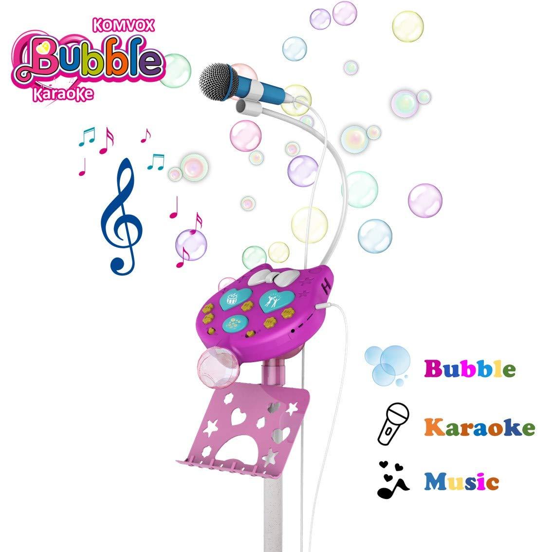 Karaoke Microfono Infantil con Maquina Burbujas para Niños, Cumpleaños Navidad Regalos Niñas 3 4 5 6 Años, Chicas Micrófono Juguete, Juguetes Niñas 4 ...