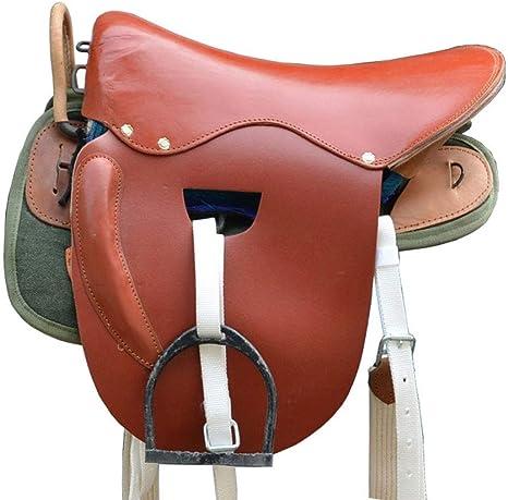 GCSEY Horse Saddle Set, Pasamanos De Cuero Silla De Montar Caballo ...