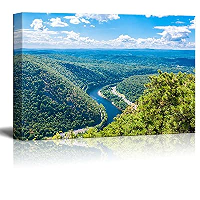 Amazing Piece of Art, Top Quality Design, Beautiful Scenery Landscape Delaware Water Gap Wall Decor