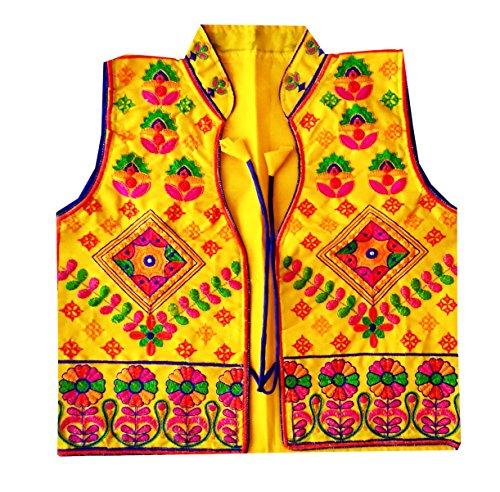 PULAA Bohemian Waist Coat-Gujarati koti -Ladies Waistcoat - Indian Ethnic Cotton Embroidered (Cotton Embroidered Vest)