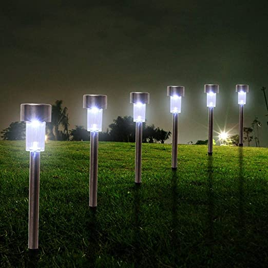 10 Unids Al Aire Libre Con Energía Solar Impermeable LED Jardín Patio Lámpara De Césped Lámpara Dancing Flame Flickerin Estacas De Luz Decorativa B: Amazon.es: Iluminación