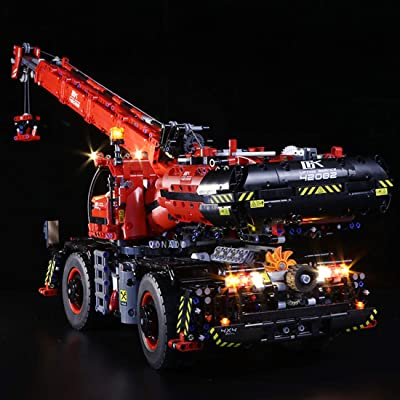WOLFBSUH Battery Operated LED Light Building Block Accessory Kit for Lego Technic Rough Terrain Crane 42082 Building Kit (LED Included Only, No Lego Kit): Toys & Games