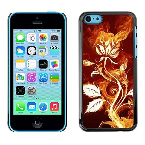 GooooStore/Housse Etui Cas Coque - Rose Flower Magical Fire Art Nature Plant - Apple iPhone 5C