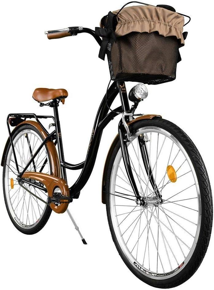 Milord. Cómoda Bicicleta de Ciudad, Bicicleta, 1 Velocidades, Rueda de 28
