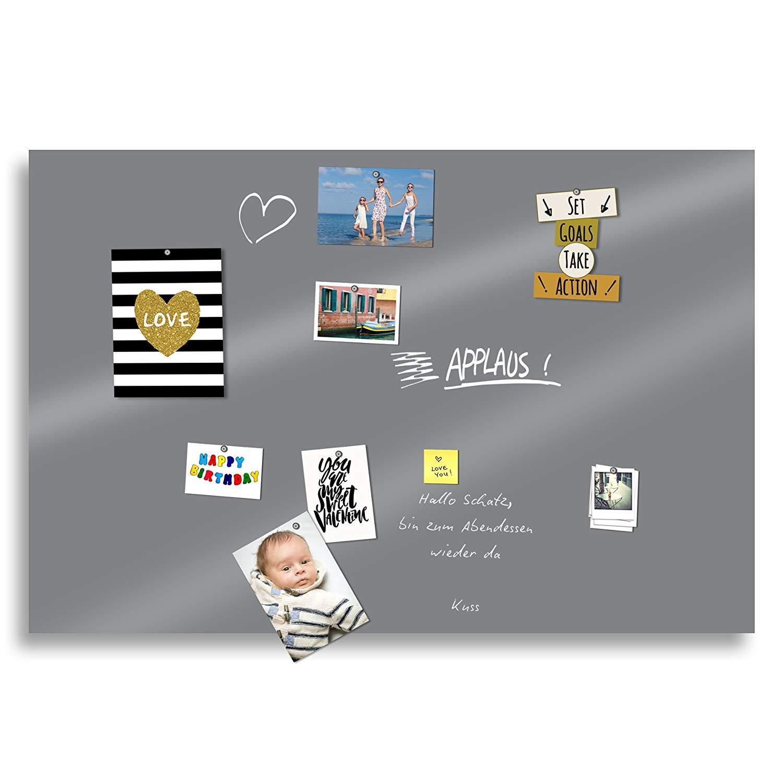 selbstklebend grau, 100x20cm abwischbar F/ür Kreide /& Kreidestifte beschreibbar Kreidetafel Folie 100 cm schwarz und grau magnetisch PVC-Freie K/ühlschrank Magnettafel