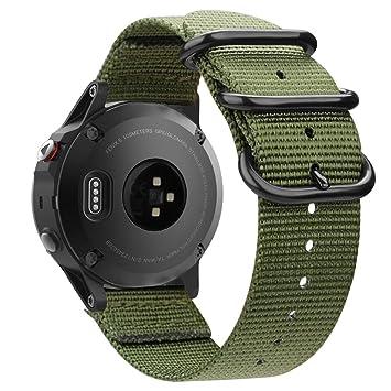 FINTIE Correa para Garmin Fenix 5 /Fenix 5 Plus/Forerunner 935 Smartwatch - Pulsera de Repuesto de Suave Tejido de Nylon Banda Deportiva con Hebilla ...