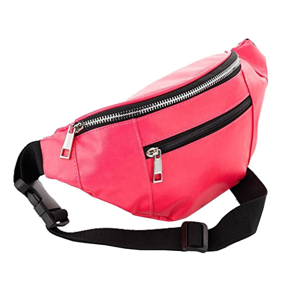 Womens Faux Leather Pu Holiday Festival Travel Money Fanny Pack Waist Bum Bag