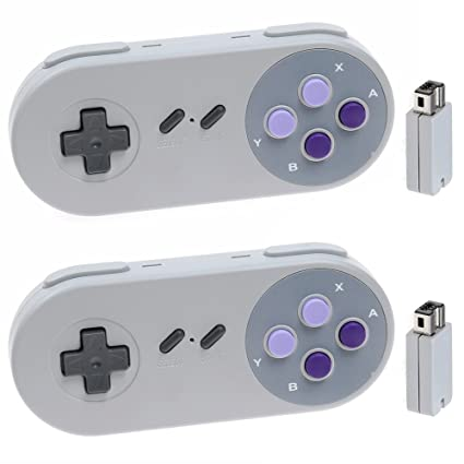 Amazoncom Niceco 2 Pack 24g Wireless Controller For Snes Classic