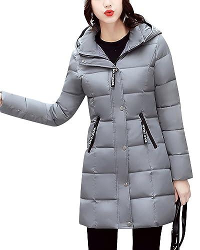 Mujer Abrigos Calor Chaqueta Larga Parka Grueso Cazadoras De Invierno