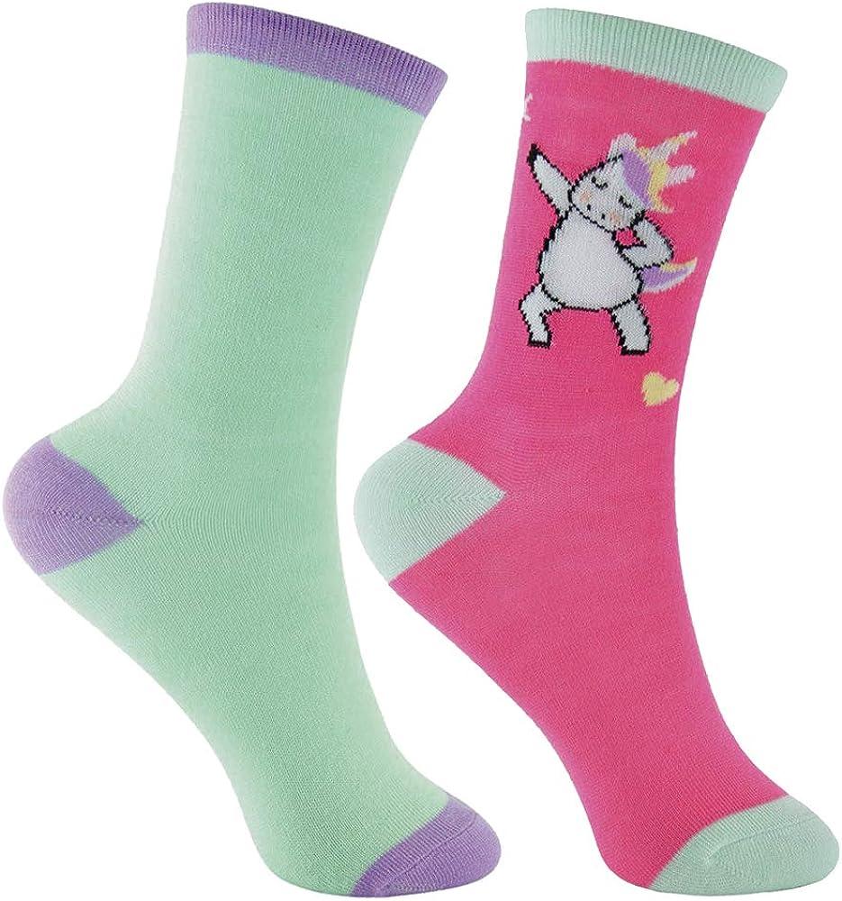 Sock Snob 6 Paia Ragazza Bambina Eleganti Colorate Unicorno Calzini//Calze