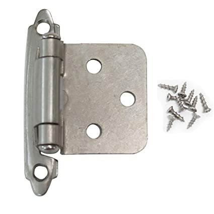 gobrico satin nickel flush hinges self closing kitchen cabinet rh amazon com