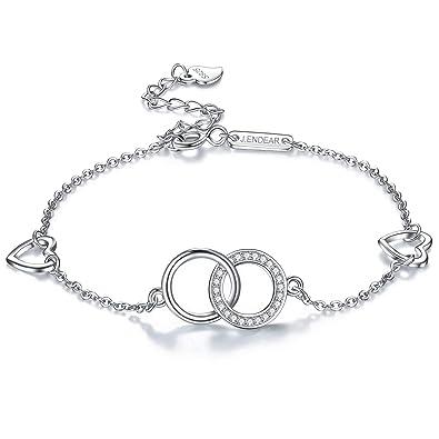 Bracelet Avec De Femme Cm Pour En J Réglable Sterling Symbole Argent 925 224 endéar Cheville Amour 6yIYgmf7bv