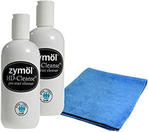 Zymol Hd Cleanse (2 Pack) - Two 8.5 Ounce Bottles of Zymol Hd-Cleanse and Microfiber Cloth