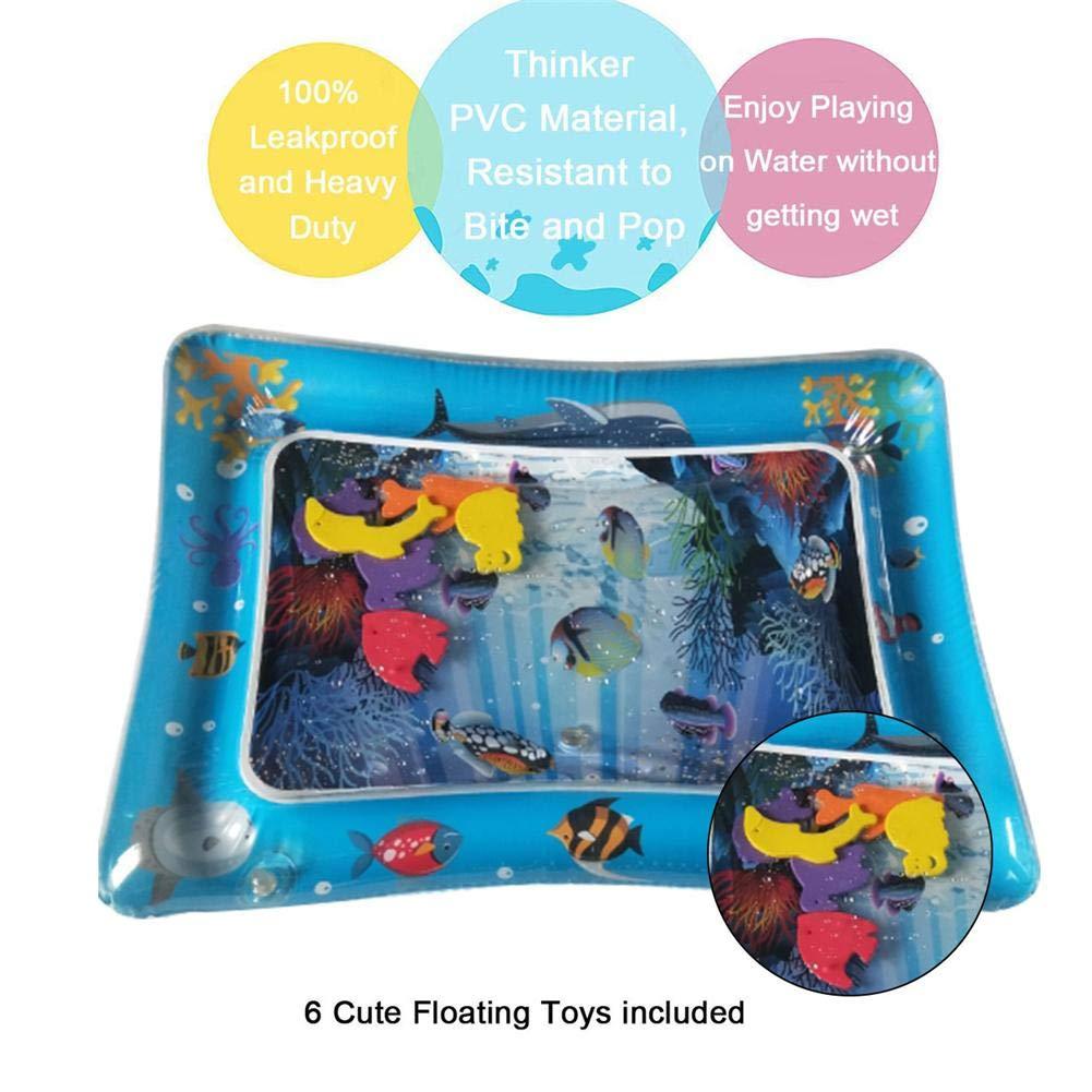 Cosy-TT Baby Wasser Kissen Wasser Spielmatte Sommer Cool Mat Gro/ße Aufblasbare Premium PVC Kunststoff EIS Pad Marine Life Matte Stimulation Wachstum