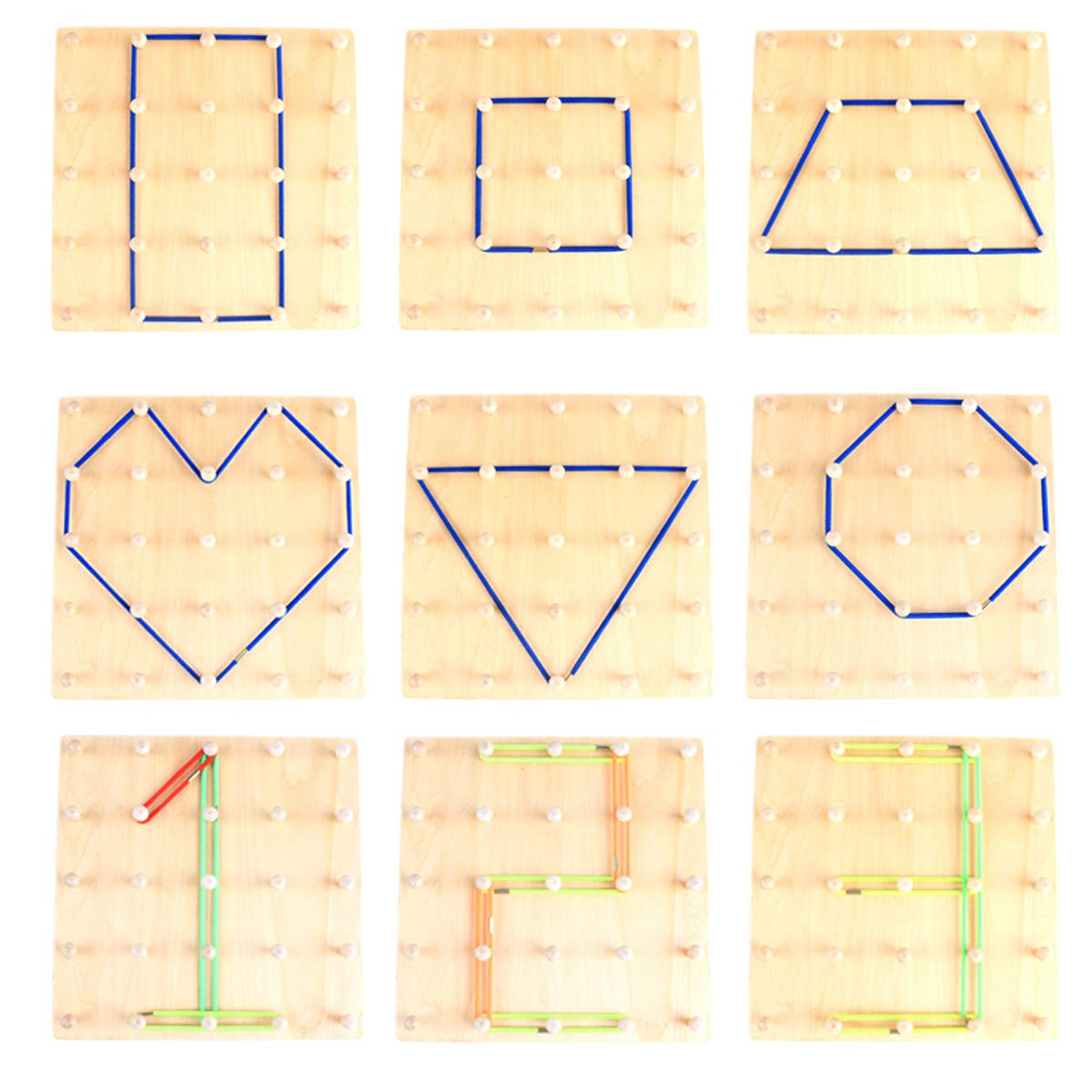 7 Inches Learning Resources Classpack Geoboards Set of 10 LER0153