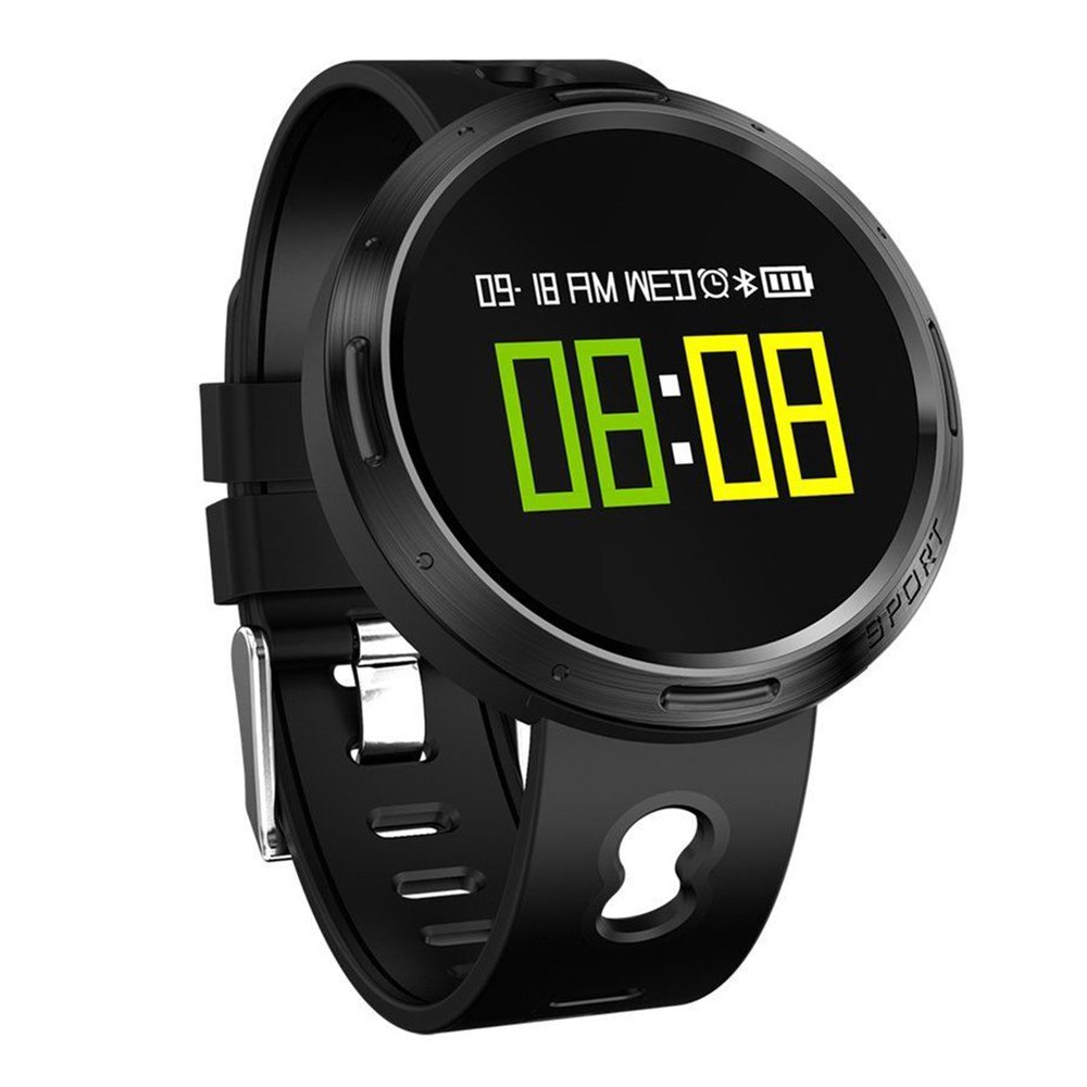 Auntwhale IP68 Waterproof Smart Watch Blueteeth, Android,IOS,Information Push,Blood Pressure Heart Rate Blood Oxygen Monitoring, Pedometer, Calories, Sleep Monitoring - Black