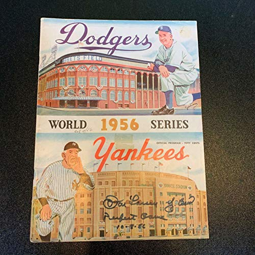 - RARE Yogi Berra & Don Larsen Signed 1956 World Series Perfect Game Program - JSA Certified - Autographed MLB Magazines