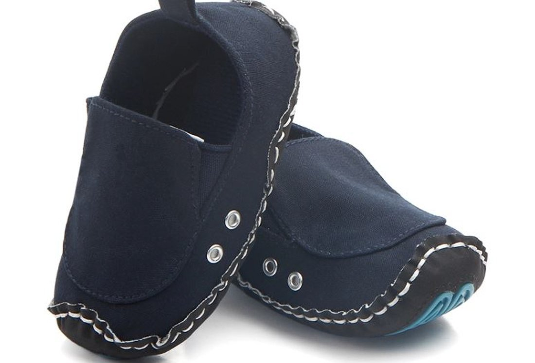 FAJ GoodDeal Ever FAJ Anti-Slip Baby Shoes (6-12 Months, Navy)