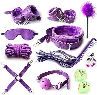 RianGor 12Pcs Ensemble de Courroie en Nylon Violet pour Se détendre dans la Chambre à Coucher