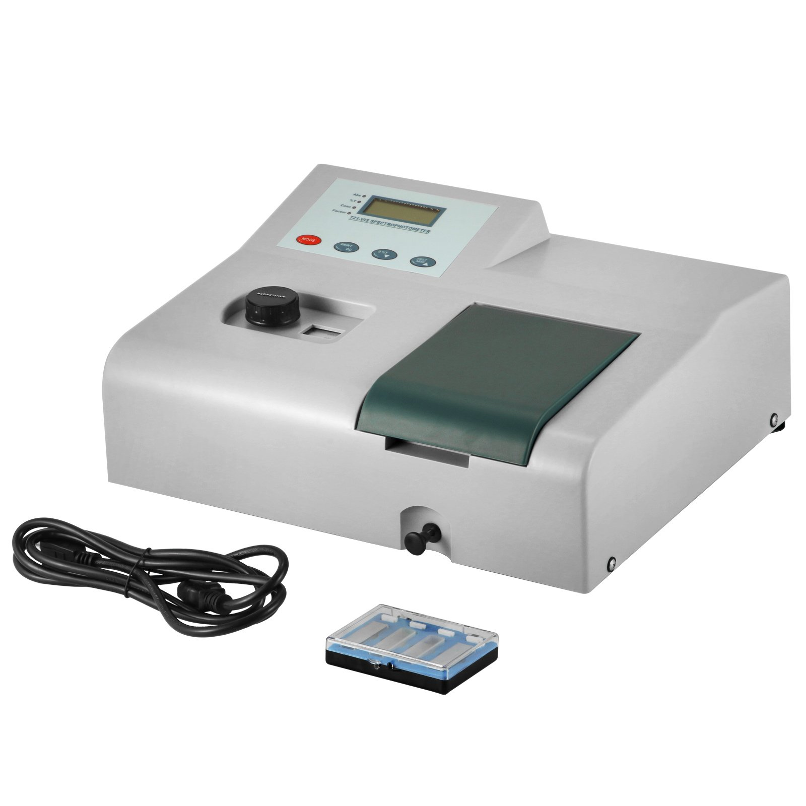 VEVOR Visible Spectrophotometer 721 Spectrophotometer Laboratory Wavelength Range 350 to 1020nm 6nm Tungsten Lamp by VEVOR