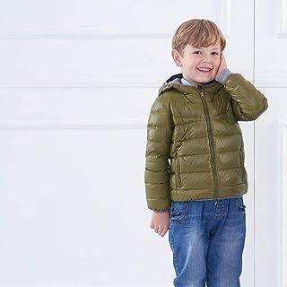 nouler Moda da Abbinare Ai Bambini in Piumino Leggero Abbinato Ai Colori,Verde,XXXXL