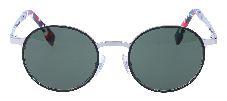 774b6876441c Amazon.com  Fendi FF0090-S-D41-85-49 Ladies FF 0090-S D41 85 Palladium  Black Sunglasses  Shoes