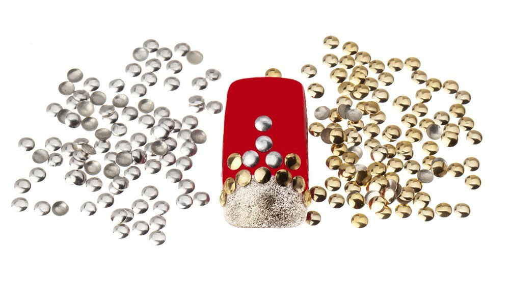 Great Value Set of 300 3mm Silver And Golden Round Metal Studs Manicure Nail Art 3D Decorations By VAGA