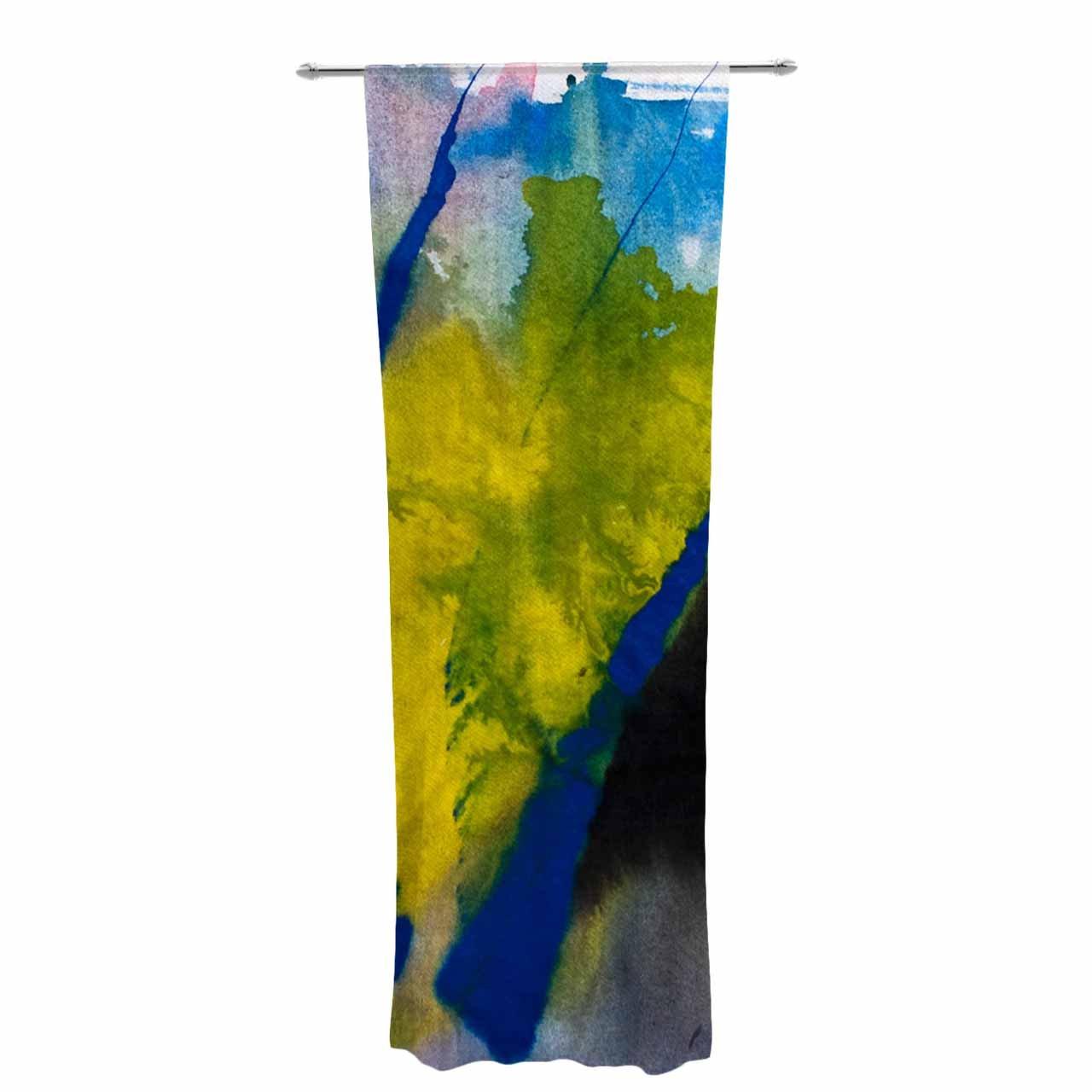 30 x 84 Sheer Curtains Kess InHouse Malia Shields Exploration Yellow Blue Decorative Set