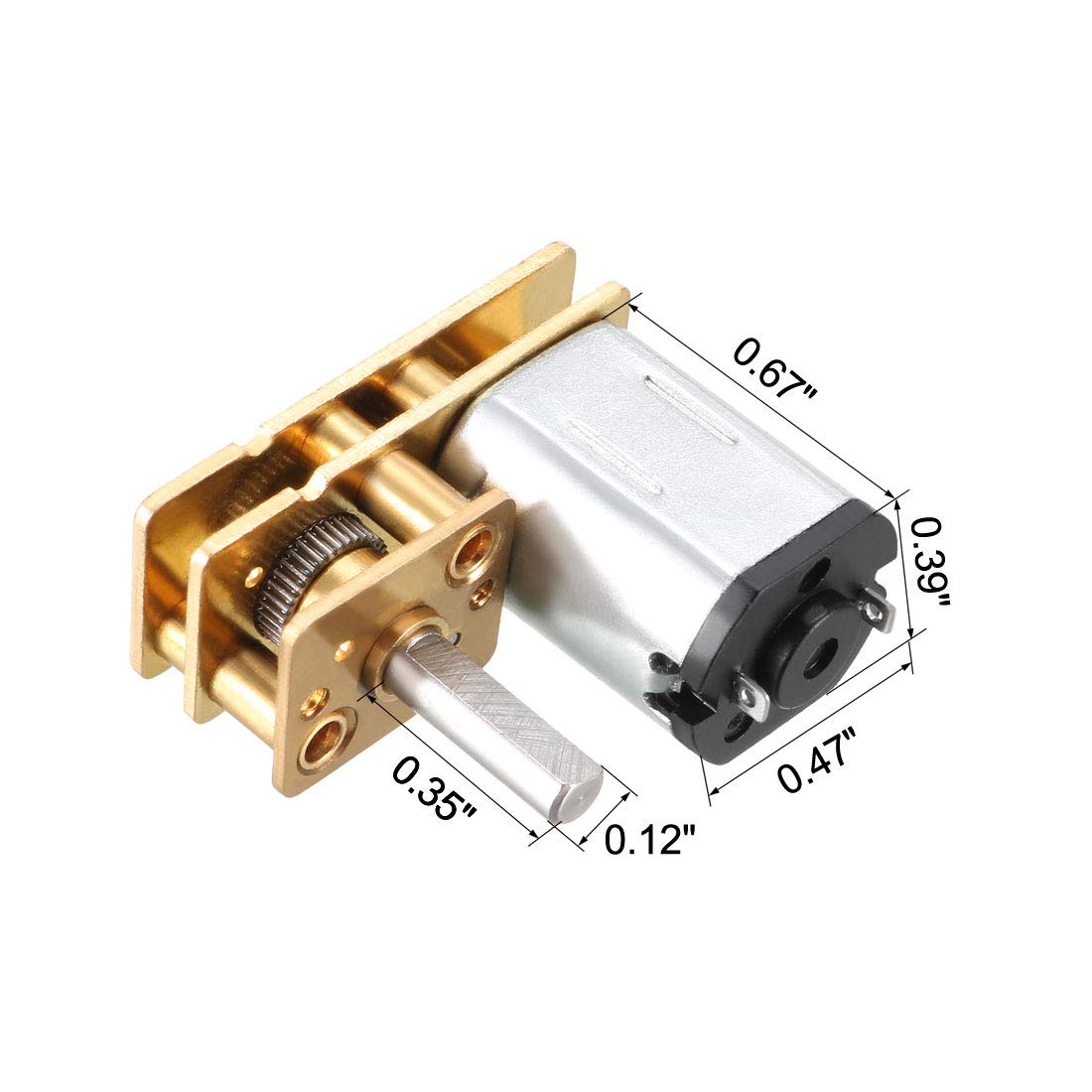 uxcell GA12-N20 6V 60RPM DC Gear Motor with Encoder Speed Velocity Measurement for Mini Car Balance Motor Encoder DIY