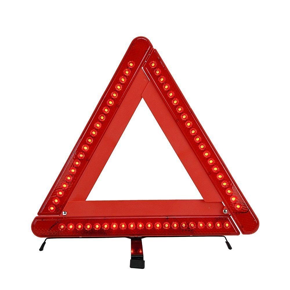 Foldable Car Emergency Warning Triangle Kit Reflector 17 Inch Emergency Road Flasher TILY