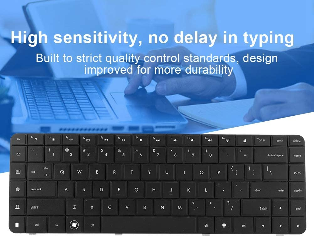 Zopsc Laptop Keyboard Replacement Durable Portable Keyboard for HP 56 62 G56 G62 CQ62 Keyboard CQ56 CQ56-100 Keyboard