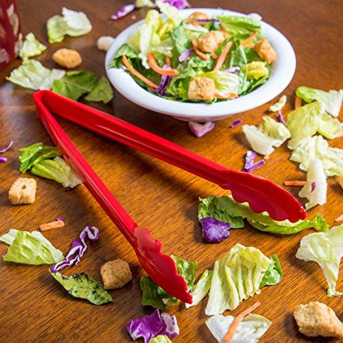 """Carlisle Carly Salad Tong, 12"""" Utility Tong, 1 Pack"""