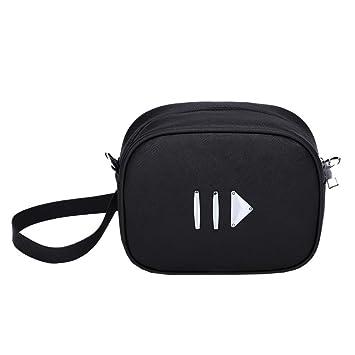 50b592a8235 Amazon.com: Girls Women Mini Waist Pack Bags Pure Color Leather ...