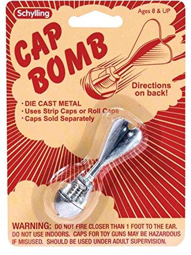 CAP BOMB rocket metal Toy Grenade paper/plastic gun caps BOY STOCKING ()
