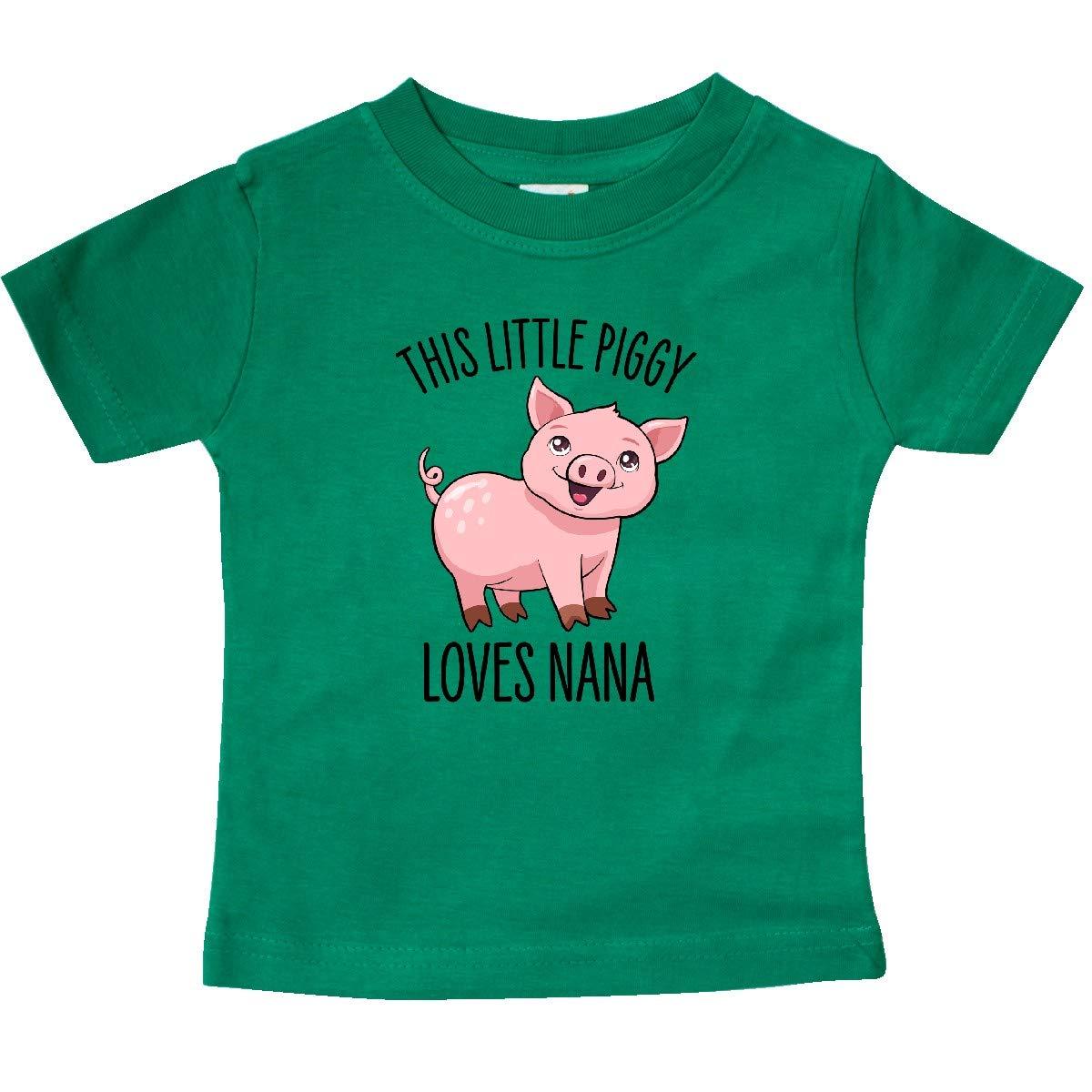 Cute Baby T-Shirt inktastic This Little Piggy Loves Nana