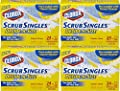 Clorox ScrubSingles Decide-A-Size, 12 Count (Pack of 4) Total 48 Pads